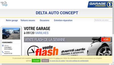 Site internet de Delta Auto Concept