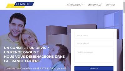 Site internet de Paris Demenagements