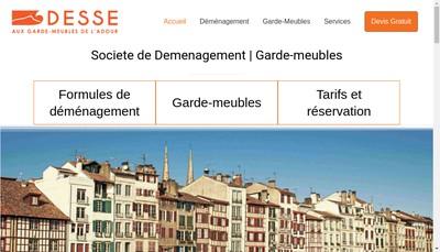 Site internet de Desse aux Garde Meubles de l'Adour