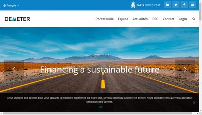 Site internet de Demeter Partners