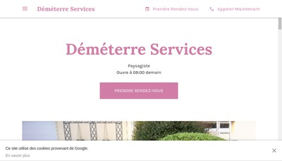 Site internet de Demeterre Services