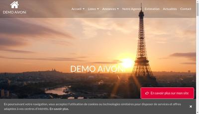 Site internet de SA Cabinet Dervault