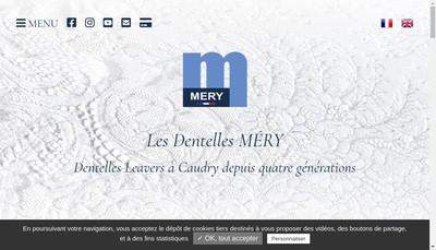 Site internet de Dentelles Mery Cosetex