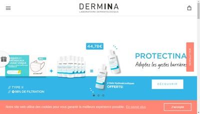 Site internet de Inderma - Laboratoire Dermatologique Dermina - Swissclinical - Laboratoire Plants Balance - Saeve la