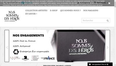 Site internet de Nous Sommes des Heros