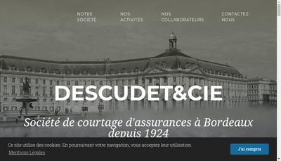 Site internet de Descudet & Cie