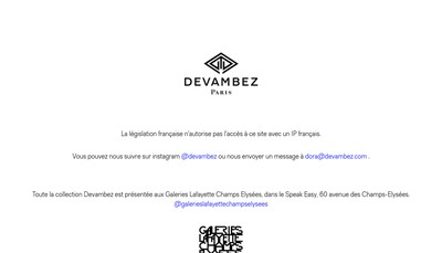 Site internet de Devambez