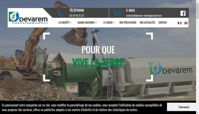 Site internet de Devarem Developpement