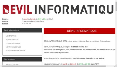 Site internet de Devil Informatique