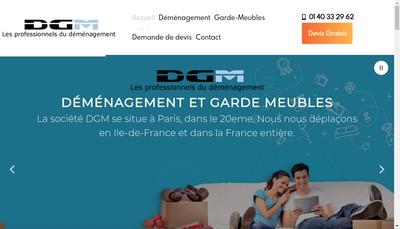 Site internet de Dgm Demenagement Garde Meubles