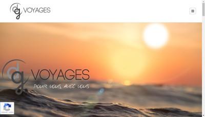 Site internet de DG Voyages