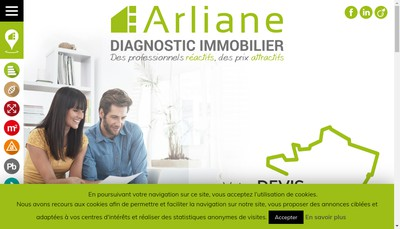 Site internet de Arliane Diagnostic Immobilier