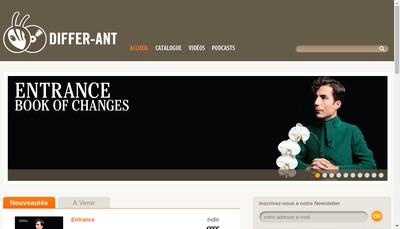 Site internet de Differ-Ant