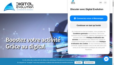 Site internet de Digital Evolution