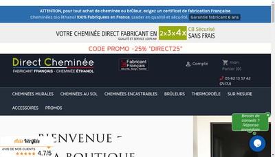 Site internet de Pta-Direct Cheminee-Photonation-Funeraire Plus