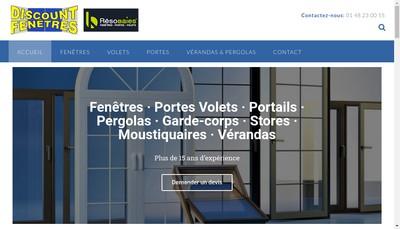 Site internet de Discount Fenetre