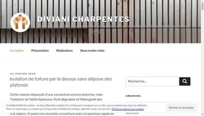 Site internet de Diviani Charpentes