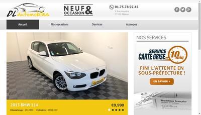 Site internet de Dl Automobiles