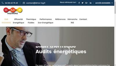 Site internet de Dme Ingenierie