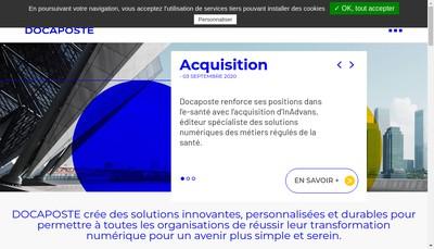 Site internet de Cntp - Docaposte - Bpo