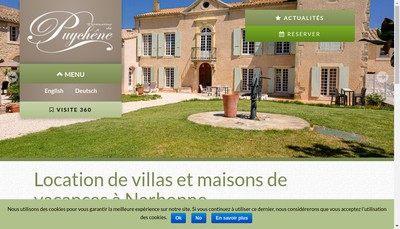 Site internet de Domaine de Puychene