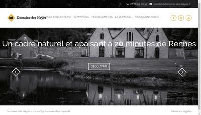 Site internet de Le Domaine des Hayes