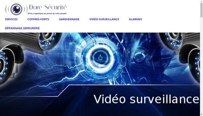 Site internet de Dore Securite