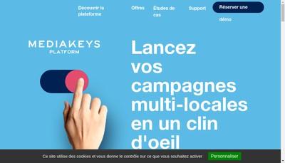 Site internet de Mediakeys Technology