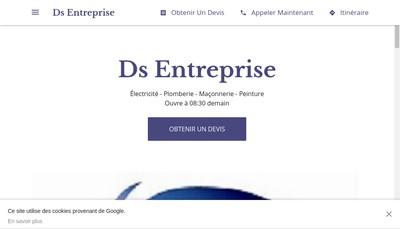 Site internet de Ds Entreprise