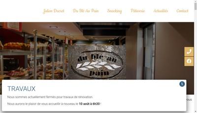 Site internet de Du Ble au Pain