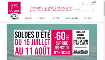 Site internet de Tricots Duger