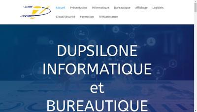 Site internet de SARL Dupsilone Informatique