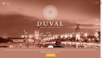 Site internet de Duval Traiteur