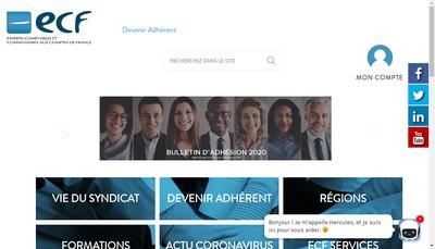 Site internet de Ecf Formations