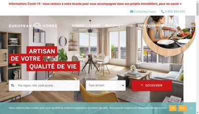 Site internet de European Homes 77