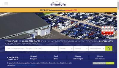 Site internet de E-Motors
