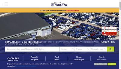 Site internet de E-Motors Tours