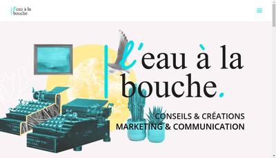 Site internet de L'Eau a la Bouche