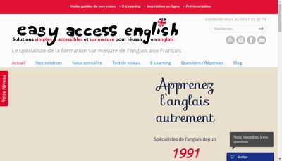 Site internet de Easy Access Learning