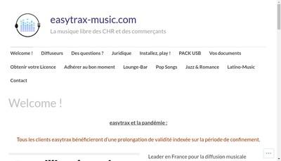 Site internet de Easytrax-Music France