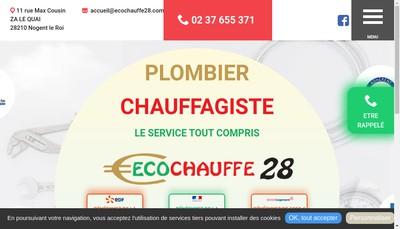 Site internet de Ecochauffe 28