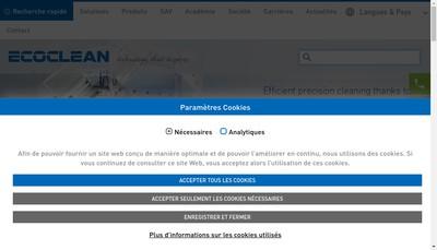 Site internet de Ecoclean