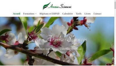 Site internet de Aroma-Sciences