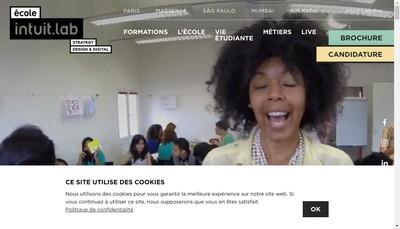 Site internet de Ecole Intuit-Lab