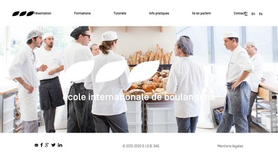 Site internet de Ecole Internationale de Boulangerie