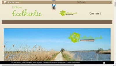 Site internet de Editions Ecothentic