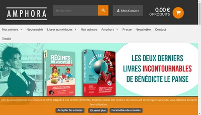 Site internet de Editions Amphora