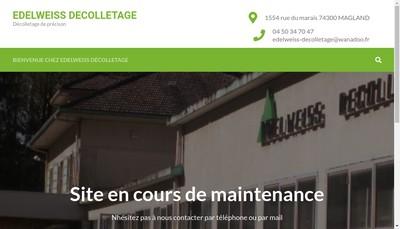 Site internet de Edelweiss Decolletage