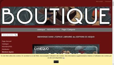Site internet de Editions Ex Aequo