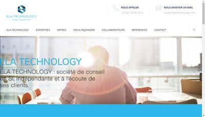 Site internet de Ela Technology